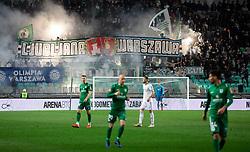 Green Dragons, supporters of Olimpija during Football match between NK Olimpija and NK Maribor in 23rd Round of Prva liga Telekom Slovenije 2018/19 on March 16, 2019, in SRC Stozice, Ljubljana, Slovenia. Photo by Vid Ponikvar / Sportida