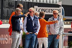Greve Willem, NED, Van Der Vleuten Eric, NED, Lansink Jos, BEL, Houtzager Mark, NED, Kaiser Julia, AUT, Van Der Vleuten Maikel, NED<br /> Rotterdam - Europameisterschaft Dressur, Springen und Para-Dressur 2019<br /> Parcoursbesichtigung<br /> Longines FEI Jumping European Championship - 1st part - speed competition against the clock<br /> 1. Runde Zeitspringen<br /> 21. August 2019<br /> © www.sportfotos-lafrentz.de/Dirk Caremans