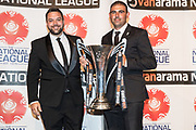 Macclesfield Town, winners of the National League during the National League Gala Awards Evening at Celtic Manor Resort, Newport, South Wales on 9 June 2018. Picture by Shane Healey.