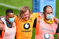 Rugby Union - 2019 / 2020 Gallagher Premiership - Bath vs Wasps<br /> <br /> Wasps' Tommy Taylor leaves the pitch injured, at the Recreation Ground.<br /> <br /> COLORSPORT/ASHLEY WESTERN