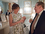 DORRIT MOUSSASIEFF; WIFE OF THE PRESIDENT OF ICELAND; ;  WILLIAM RAYNER, An exhibition of watercolours by William Rayner at Mallet's, New Bond St. Party afterwards at Bellami's, bruton Place. London. 16 June 2010. .-DO NOT ARCHIVE-© Copyright Photograph by Dafydd Jones. 248 Clapham Rd. London SW9 0PZ. Tel 0207 820 0771. www.dafjones.com.