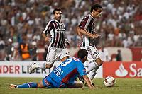 20120207: RIO DE JANEIRO, BRAZIL - Player Fred and Deco (FLU) and Guillermo Enio Burdisso (ARS) at football match between Fluminense (BRA) vs  Arsenal de Sarandi (ARG) for Copa Libertadores, held at Engenhao stadium in RJ<br /> PHOTO: CITYFILES