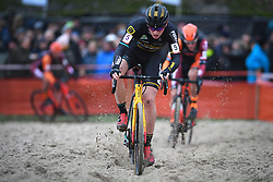 January 5, 2019 - Gullegem, BELGIUM - Belgian Thijs Aerts pictured in action during the men elite race of the Gullegem Cyclocross, Saturday 05 January 2019 in Gullegem, Belgium. BELGA PHOTO DAVID STOCKMAN (Credit Image: © David Stockman/Belga via ZUMA Press)