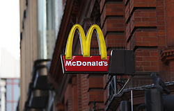 A McDonald's logo on a restaurant in Oxford street, London. Picture dated: Thursday September 13, 2018. Photo credit should read: Isabel Infantes / EMPICS Entertainment.