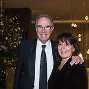 NLD/Rotterdam/20131216 - Society Lunch Silver Bells Christmas, Edvard Niessing en partner Conny Fenbler