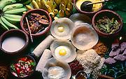 A selection of Sri Lanka's food.
