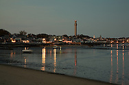 Low tide and fading light combined to yield these reflections in Provincetown Harbor