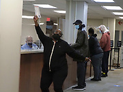 As early voting got underway in Ohio, this voter danced her way through the voter check-in process.