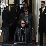 NLD/Amsterdam/20131110 - The Killers leaving the hotel for the MTV EMA 2013