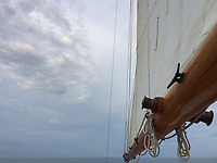 Sailing Ogunquit Maine.  ©Karen Bobotas Photographer