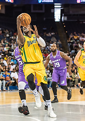 July 6, 2018 - Oakland, CA, U.S. - OAKLAND, CA - JULY 06:Jermaine Taylor (1) of the Ball Hogs goes in for a lay up during game 2 in week three of the BIG3 3-on-3 basketball league on Friday, July 6, 2018 at the Oracle Arena in Oakland, CA  (Photo by Douglas Stringer/Icon Sportswire) (Credit Image: © Douglas Stringer/Icon SMI via ZUMA Press)