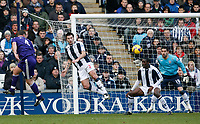 Photo: Steve Bond/Richard Lane Photography. West Bromwich Albion v Newcastle United. Barclays Premiership. 07/02/2009. Kevin Nolan (L) heads just wide