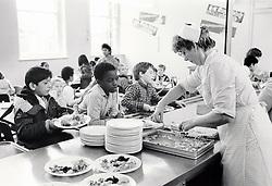 Lunchtime Stanley junior school, Nottingham UK 1986