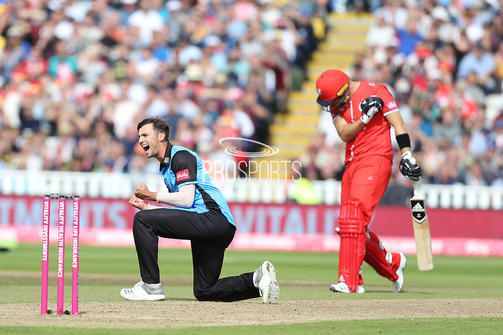Worcestershire Rapids Ed Barnard during the Vitality T20 Finals Day semi final 2018 match between Worcestershire Rapids and Lancashire Lightning at Edgbaston, Birmingham, United Kingdom on 15 September 2018.