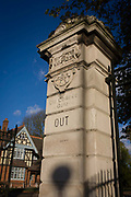 The entrance/exit pillar and gate to Dulwich Park in the south London borough of Southwark. Old College Gate is on College Rd, one of four main gates into the park. Dulwich Park is a 30.85-hectare park in the London Borough of Southwark, south London, England, opened in 1890 by Lord Rosebery, initially designed by Charles Barry (junior), later refined by Lt Col J. J. Sexby (who also designed Battersea, Ruskin and parts of Southwark Parks). In 2004–6, the park was restored to its original Victorian layout, following a grant from the Heritage Lottery Fund.