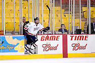 October 13, 2007 - Anchorage, Alaska: Dave Cowan (24) of the Robert Morris Colonials escapes the penalty box in the Colonials 4-1 victory over the Wayne State Warriors at the Nye Frontier Classic at the Sullivan Arena.