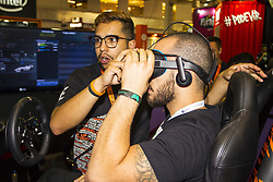 October 10, 2018 - SãO Paulo, Brazil - SÃO PAULO, SP - 10.10.2018: BRASIL GAME SHOW 2018 - The eleventh edition of the Brazil Game Show was opened on Wednesday (10), where about 300 thousand visitors are expected to meet the news of more than 250 companies, visit hundreds of booths, eSports tournaments, cosplay competitions, various guests international, digital influencers and more. The event goes until this Sunday (14) (Credit Image: © Emerson Santos/Fotoarena via ZUMA Press)