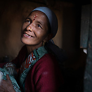 Portrait of woman in the Himalaya.