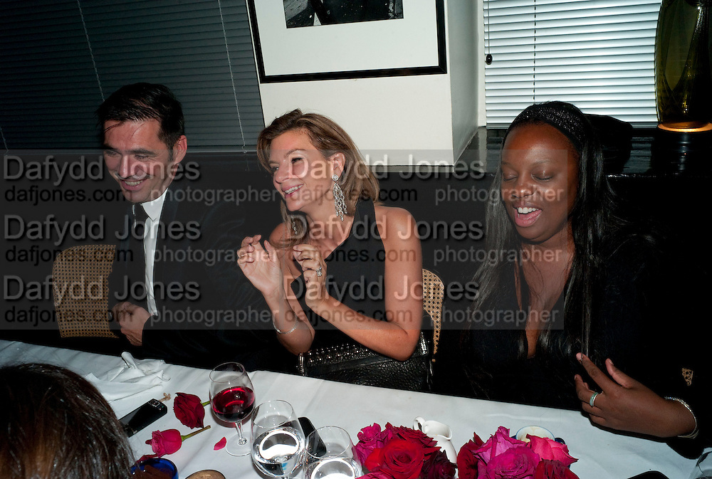 NATHALIE MASSANET; Pat McGrath ?, Dinner hosted by editor of British Vogue, Alexandra Shulman in association with Net-A-Porter.com in honour of 25 years of London Fashion Week and Nick Knight. Caprice. London.  September 21, 2009