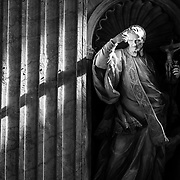 Religious statue in St Peter basilica.