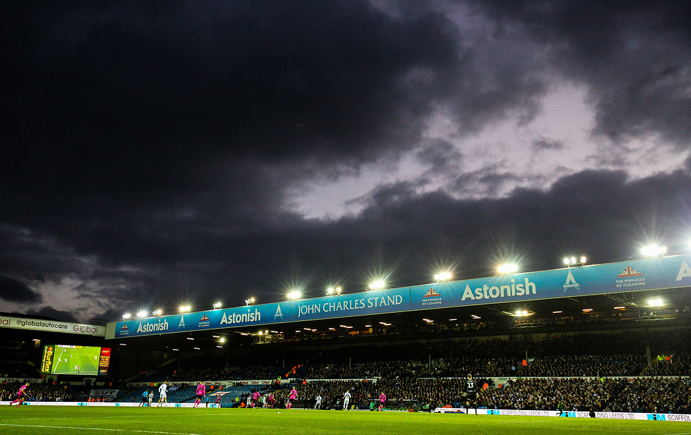 A general view of Elland Road as play continues in the second half<br /> <br /> Photographer Alex Dodd/CameraSport<br /> <br /> The EFL Sky Bet Championship - Leeds United v Queens Park Rangers - Saturday 8th December 2018 - Elland Road - Leeds<br /> <br /> World Copyright © 2018 CameraSport. All rights reserved. 43 Linden Ave. Countesthorpe. Leicester. England. LE8 5PG - Tel: +44 (0) 116 277 4147 - admin@camerasport.com - www.camerasport.com