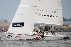 TEAMORIGIN recover Iain Percy. Danish Open 2010, Bornholm, Denmark. World Match Racing Tour. photo: Loris von Siebenthal - myimage
