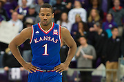 FORT WORTH, TX - FEBRUARY 6: Wayne Selden Jr. #1 of the Kansas Jayhawks looks on against the TCU Horned Frogs on February 6, 2016 at the Ed and Rae Schollmaier Arena in Fort Worth, Texas.  (Photo by Cooper Neill/Getty Images) *** Local Caption *** Wayne Selden Jr.
