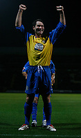Photo: Steve Bond.<br />Notts County v Hereford United. Coca Cola League 2. 02/10/2007. Steve guinan celebrates in front of the Hereford fans