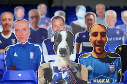 A cutout of a dog seen in the stands - Mandatory by-line: Arron Gent/JMP - 26/09/2020 - FOOTBALL - Portman Road - Ipswich, England - Ipswich Town v Rochdale - Sky Bet League One