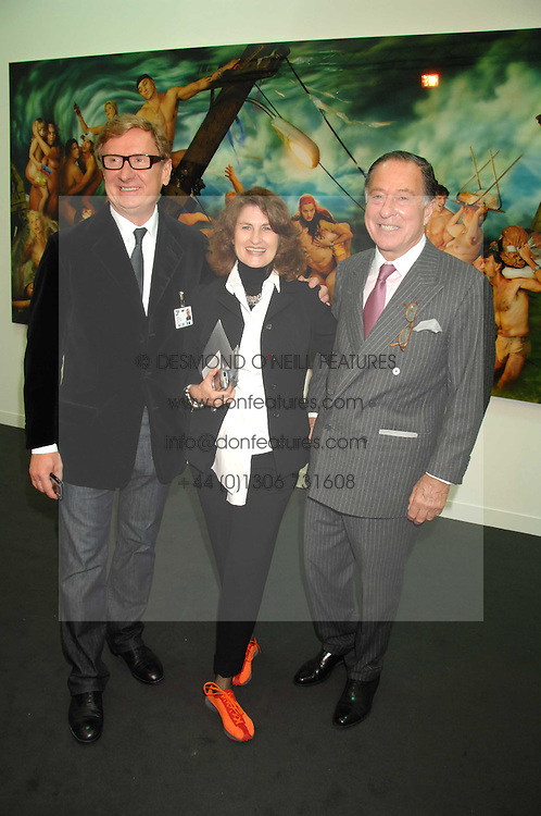 Left to right, art dealer RAFAEL JABLONKA and JOHN & JILL RITBLAT at the opening of Frieze Art Fair 2007 held in regent's Park, London on 10th October 2007.<br /><br />NON EXCLUSIVE - WORLD RIGHTS