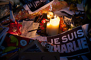 A sign state that 'Je suis Charlie' - I am Charlie. Londoners show their solidarity with the 12 people killed in an attack on the magazine Charlie Hebdo in Paris and their revulsion of the attack on freedom of speech at a vigil in Trafalgar Square. Three attackers killed ten journalist working for Charlie Hebdo and two police officers, the worst terrorist attack in Paris, France in 50 years.