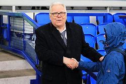 Everton chairman Bill Kenwright ahead of the Premier League match at Goodison Park, Liverpool.