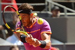 May 13, 2017 - Madrid, Spain - RAFAEL NADAL of Spain in his semifinal match v. N. Djokovic in the Mutua Madrid Open tennis tournament. (Credit Image: © Christopher Levy via ZUMA Wire)