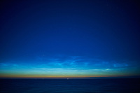 Noctilucent Clouds Over the Baltic Sea. From my cabin on the MV Explorer while traveling from Stockholm to Copenhagen. Image taken with a Nikon D4 camera and 28 mm f/1.8 lens (ISO 800, 28 mm, f/1.8, 1 sec). Raw image processed with Capture One Pro.