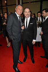 Left to right, JEAN CHRISTOPHE BABIN and DAVID FURNISH at the launch of the new Bulgari flagship store at 168 New Bond Street, London on 14th April 2016.