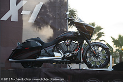 The Victory Magnum X-1 introduction on Main Street during Daytona Beach Bike Week 2015. FL, USA. March 13, 2015.  Photography ©2015 Michael Lichter.