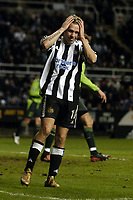 Fotball<br /> UEFA-cup 2004/05<br /> Newcastle v Sporting Lisboa<br /> 16. desember 2004<br /> Foto: Digitalsport<br /> NORWAY ONLY<br /> Newcastle's Craig Bellamy has a sheepish expression as a chance goes begging and Newcastle squeeze through as group leaders by a narrow margin
