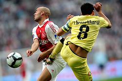 25-04-2010 VOETBAL: AJAX - FEYENOORD: AMSTERDAM<br /> De eerste wedstrijd in de bekerfinale is gewonnen door Ajax met 2-0 / Demy de Zeeuw en Giovanni van Bronckhorst<br /> ©2009-WWW.FOTOHOOGENDOORN.NL