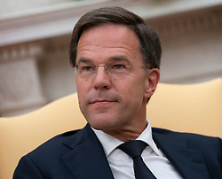 Mark Rutte, Prime Minster of The Netherlands participates in a meeting with United States President Donald J. Trump at The White House in Washington, DC, July 2, 2018. Credit: Chris Kleponis / Abaca