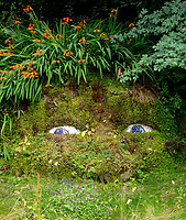 The Giants Head Living Sculpture  at the Lost Gardens of Heligan photo by Brian Jordan