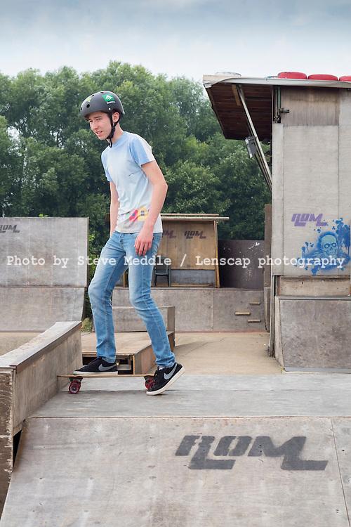 The Rom Skatepark, Hornchurch, Essex, Britain - Jul 2014.
