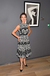 HELEN McCRORY at a private view of photographs in aid of the Sir Hubert von Herkomer Arts Foundation held at Alon Fine Art, 5-7 Dover Street, London on 8th September 2015.