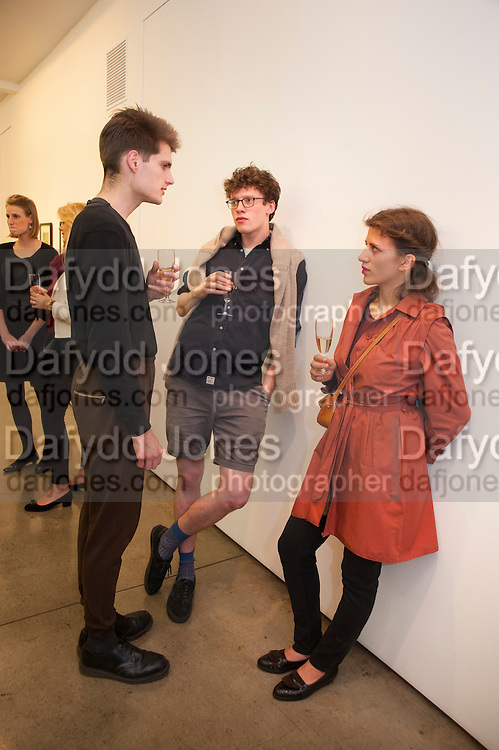 JACK BRENNAN; JACOB SMITH; JANA PEDAN, David Salle private view at the Maureen Paley Gallery. 21 Herlad St. London. E2. <br /> <br />  , -DO NOT ARCHIVE-© Copyright Photograph by Dafydd Jones. 248 Clapham Rd. London SW9 0PZ. Tel 0207 820 0771. www.dafjones.com.