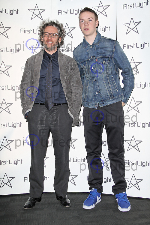 LONDON - MARCH 05:  Dexter Fletcher; Will Poulter attend the First Light Movie Awards at the BFI Southbank, london, UK. March 05, 2012. (Photo by Richard Goldschmidt)