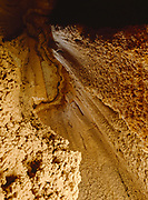 Twilight zone illuminating erosional pit in Canyon Caves, Cathedral Gorge State Park, Nevada.