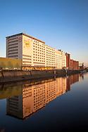 the Ellmill or Aurora mill in the Rhine port in the district Deutz, Cologne, Germany.<br /> <br /> die Ellmuehle oder Aurora Muehle im Deutzer Hafen, Koeln, Deutschland.