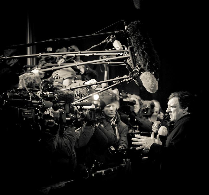 Brussels, Belgium 16 December 2010.European Commission President Jose Manuel Barroso talks to press during the European Union leaders summit in Brussels..Photo: SCORPIX /  Ezequiel Scagnetti