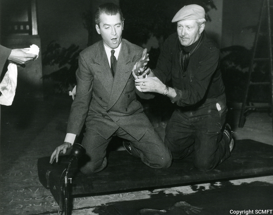 1948 Jimmy Stewart's hand and footprint ceremony at the Chinese Theater