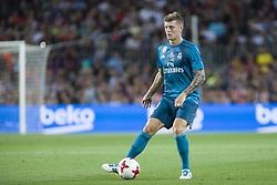 August 13, 2017 - Barcelona, Spain - Toni Kroos during the match between FC Barcelona - Real Madrid, for the first leg of the Spanish Supercup, held at Camp Nou Stadium on 13th August 2017 in Barcelona, Spain. (Credit: Urbanandsport / NurPhoto) (Credit Image: © Urbanandsport/NurPhoto via ZUMA Press)