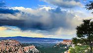 Rain cloud passing over Bryce Canyon. Photo taken May 14, 2016.
